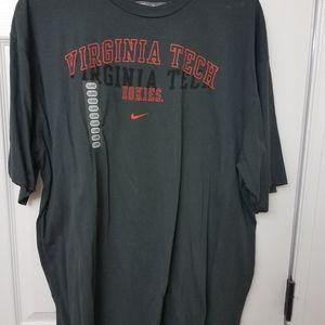 Brand new nike virginia tech grey tshirt xl.
